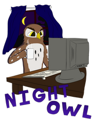 Night Owl by artwork-tee