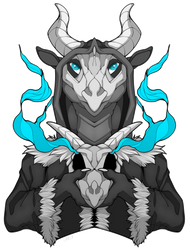 Dragon necromancer by artwork-tee