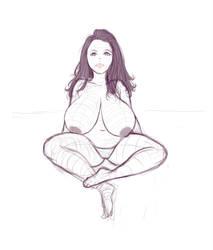 Busty girl sketch 2-17 by Ecchi-Senshi