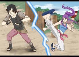 Narashi VS Hikari by RamonaChan