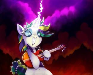 Rockin' Rarity by TalonsofIceandFire