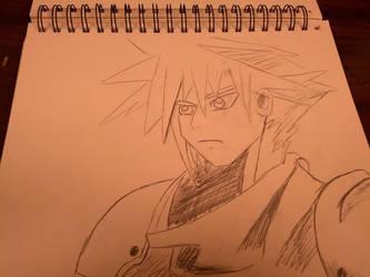Cloud Strife Sketch by Morestal