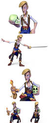 Additional Guybrush poses by scloak