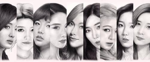 Girls' Generation portrait series by scloak