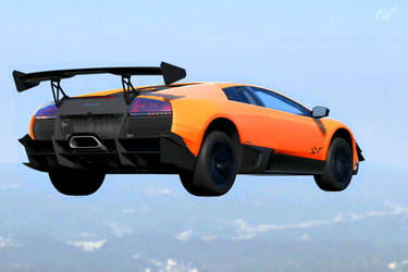 Who is say Lambo Can't fly...? by Biczyn