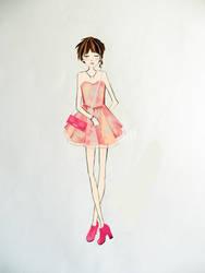 Peach girl by RyRyArt
