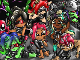 All the octolings! by RaesSplatoonDrawings