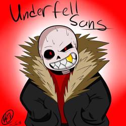 Undertale AUs: Underfell Sans (+speed paint) by LeanakoRisenka98