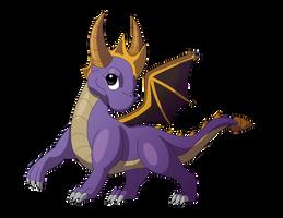 Spyro the Dragon by Sandstormer