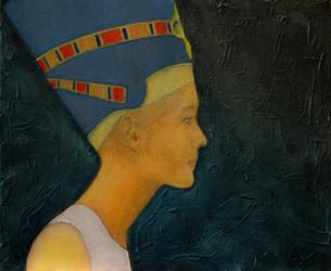 Modern Nefertiti in a wifebeater by KainVK