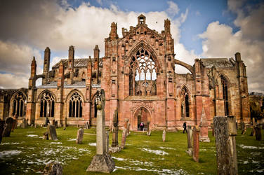 Melrose Abbey by xo-lexus-ox