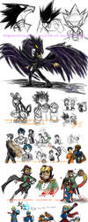 Livedraw BNHA and hero doodles by InYuJi