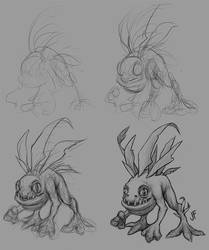 Murloc Sketch Process by joifish