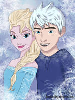 Elsa and Jack Frost by DianAxColibrY