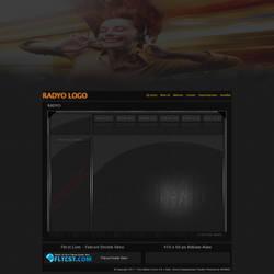 Orange template psd flatcast free by FLtcstCom