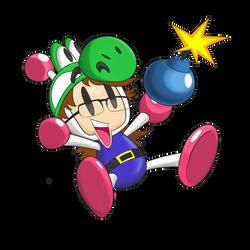 Commission - Bomberman Yoshiller by ImmaComicGenius
