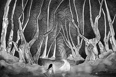 Ink Forest by natzufall