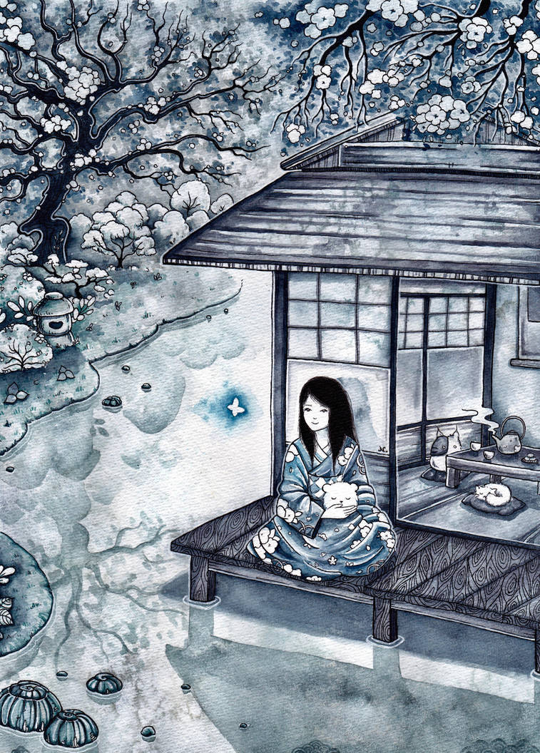 Tea House by natzufall