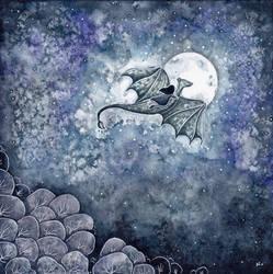 Moon Dragon by natzufall