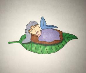 Sleeping Baby Fairy by Queen-Rini