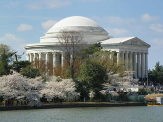 Jefferson memorial side view by AGS05