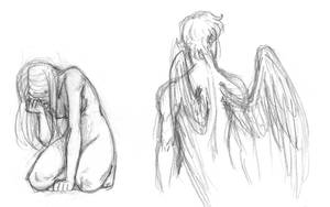 Sketches-Eros and Psyche by queenbean3