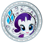 Rarity sweet button by KennyKlent