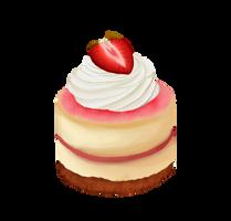 365 day 36 berry cheesecake by Korikian