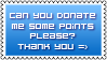 Donate Stamp Blue by DesignQueen