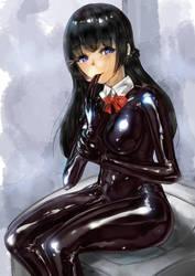 latex girl(Tsukino Mito) by Tiasti