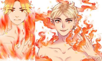 The Boy On Fire by Mangaszek