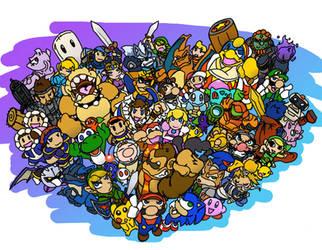 Super Smash Bros. by ribbledude