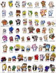 Ribble Characters by ribbledude
