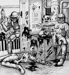 Scene from Doom 3 by shatterdome