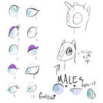 Basic eye chart for FiM by CeleryPony