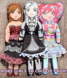 3 Plush Kawaii Dolls by bandeau