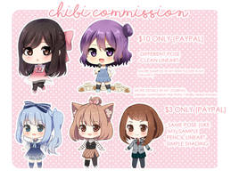 CHIBI COMMISSION OPEN! $10 AND $3 ONLY! by Nerineriipyon