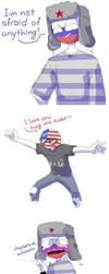 shitpost [Countryhumans] russia, usa by LuluDig