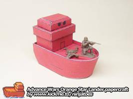 papercraft Advance Wars Lander returning fire! by ninjatoespapercraft