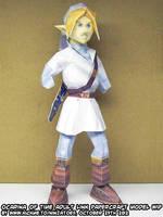 Papercraft Zelda OoT Menu Link look ma, no hands! by ninjatoespapercraft