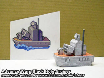 Papercraft Advance Wars Black Hole Cruiser sprite by ninjatoespapercraft