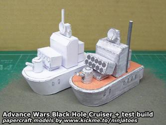 papercraft Advance Wars BH Cruiser + test build by ninjatoespapercraft