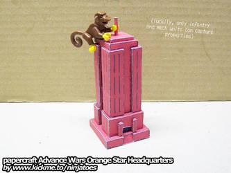 Monkey Capturing papercraft Advance Wars HQ by ninjatoespapercraft
