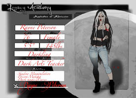 Rayne Peterson: Dark Arts Teacher by Cross8258