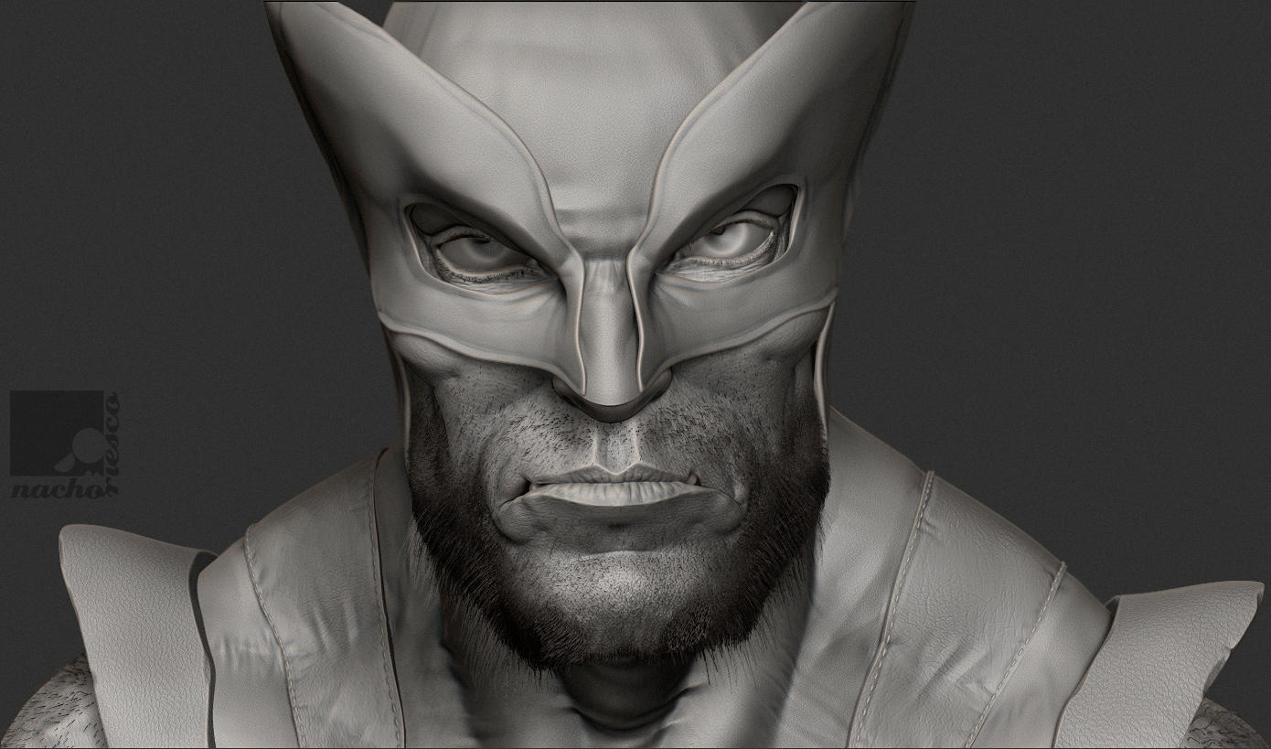 Wolverine Bust by nachoriesco