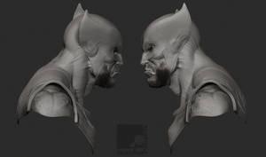 Wolverine Bust II by nachoriesco
