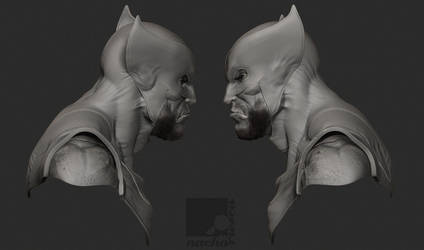 Wolverine Bust II by nachoriesco