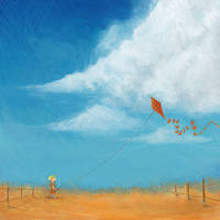 Kid with kite by TinyPilot