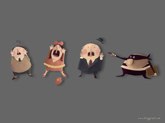 Screams Characters - Wallpaper by TinyPilot