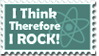 I Think - Stamp by AtheistsClub